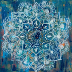 Abstraktní květina tmavě modrá