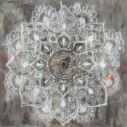Abstraktní květina šedá